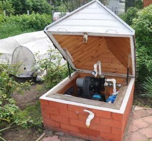 Домик для скважины на воду  фото