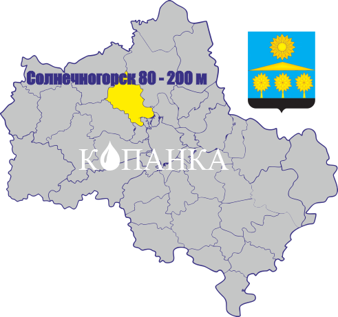 Карта районе солнечногорск